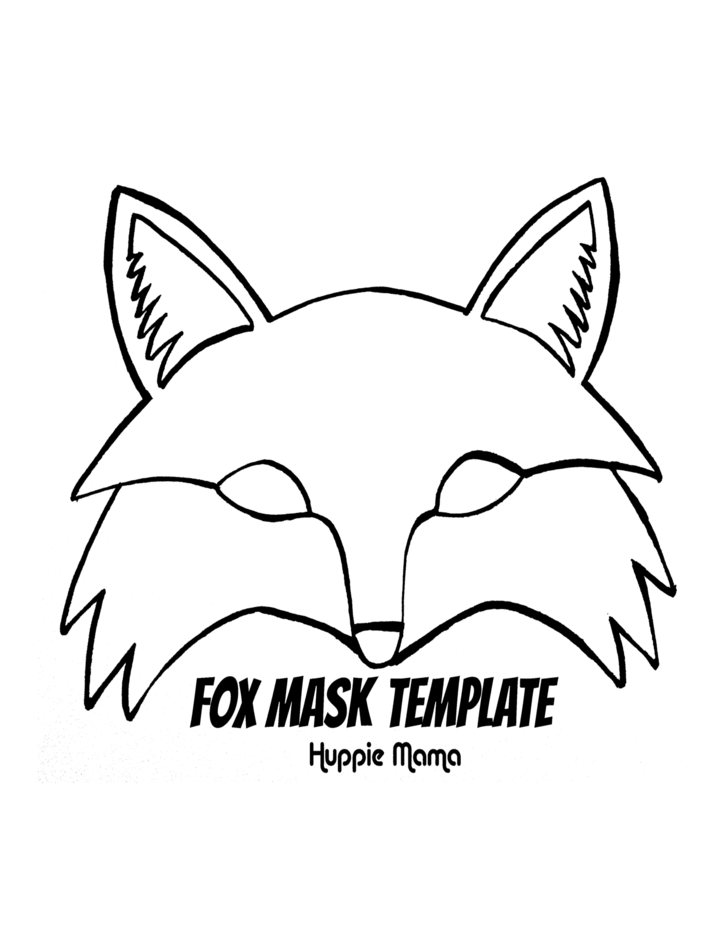 Fox mask template free download for Template of a fox