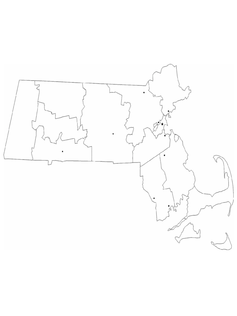 Party Wall Agreement Template >> Massachusetts Map Template - 8 Free Templates in PDF, Word, Excel Download