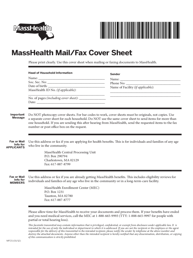 masshealth fax cover sheet 3 templates in pdf word excel masshealth mail and fax cover sheet