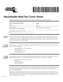 MassHealth Mail and Fax Cover Sheet Free Download