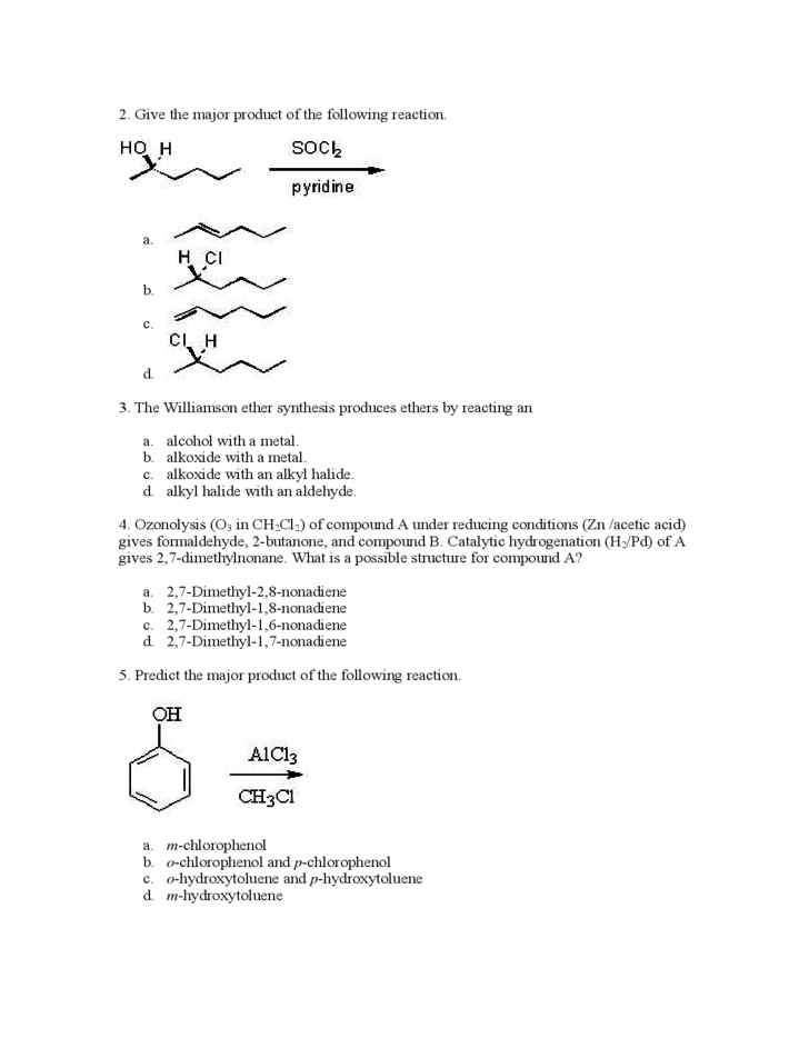 organic chemistry essay questions Melting and boiling points organic chemistry project description answer the post lab questions from lab #1 (page 23) on the attachment make sure to answer all of the questions (number 1-7) with every detail of each question.