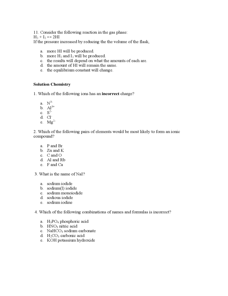 General Chemistry Questions Of Mcat Free Download