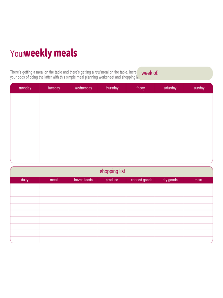 meal planner template 7 free templates in pdf word excel download