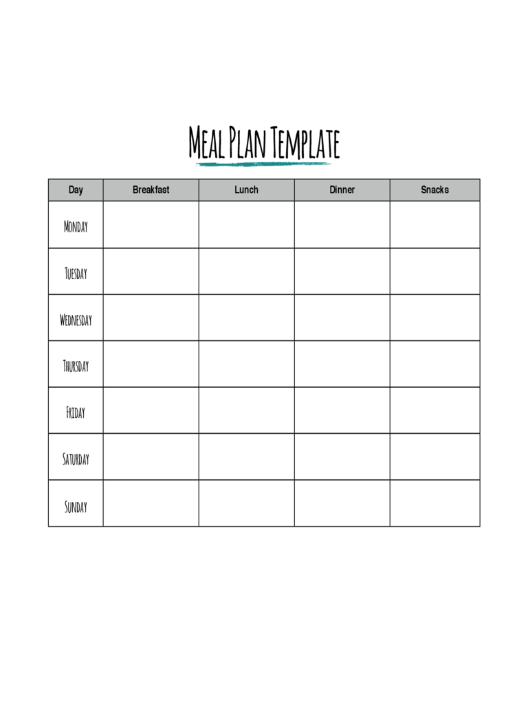 weekly meal planner template meal planner template 7 free templates in pdf word 30696