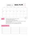 Modern Weekly Meal Planner Template Free Download