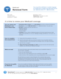 Medicaid Renewal Sample Form Free Download