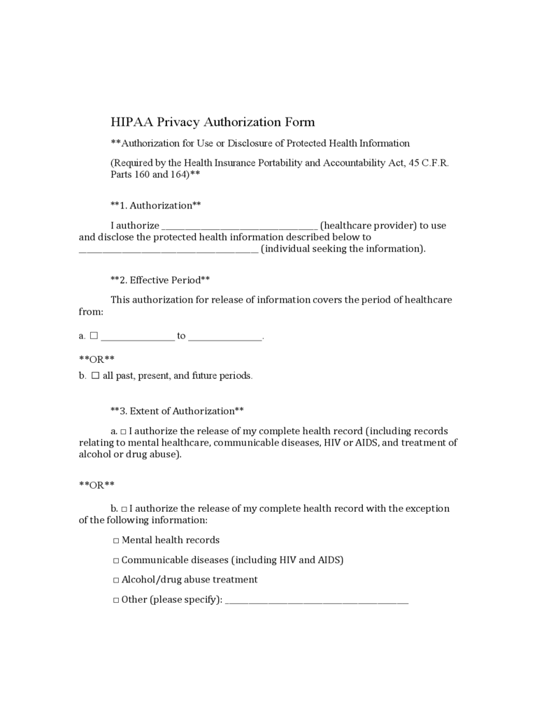 medical authorization form