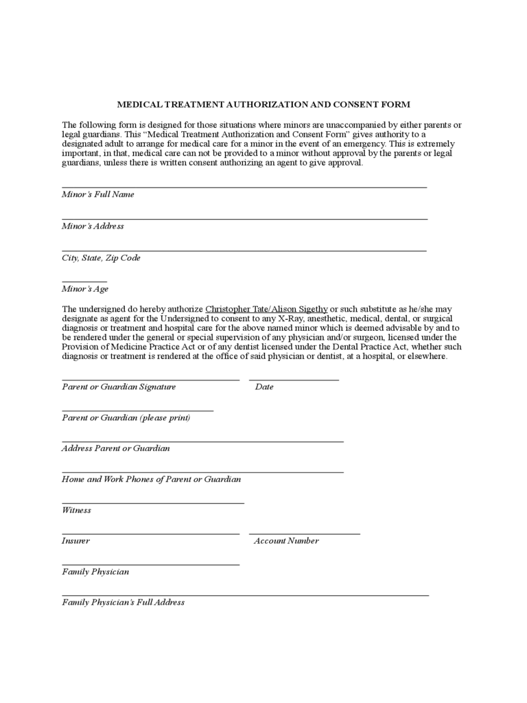 Medical Authorization Form - 5 Free Templates in PDF, Word, Excel ...