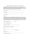 Medical Treatment Authorization and Consent Form Free Download