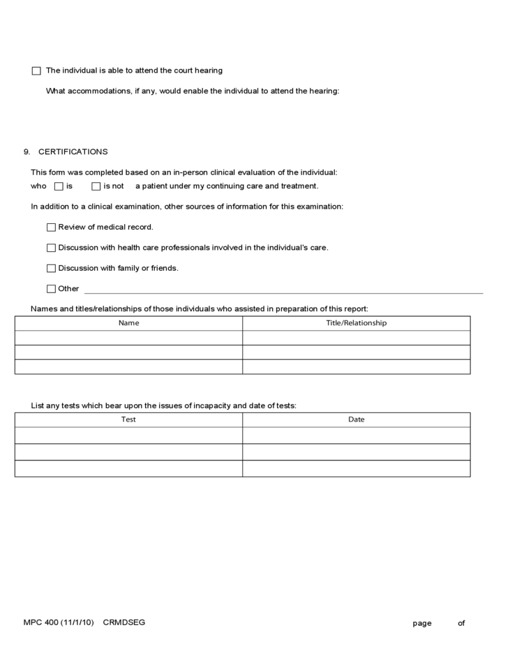 Medical Certificate Guardianship or Conservatorship Form Free Download – Download Medical Certificate