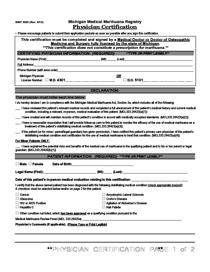 Application Form For Registry Identification Card
