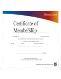 Certificate of Membership Free Download