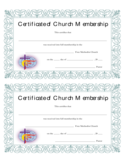 Church Membership Certificate Free Download