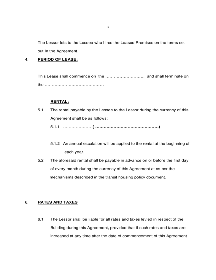 Memorandum of Lease Agreement Template Free Download