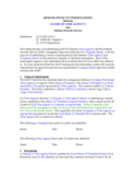 Memorandum of Understanding Template Free Download