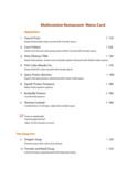 Sample Restaurant Menu Card Free Download