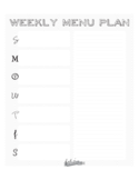 Weekly Menu Plan Template Free Download
