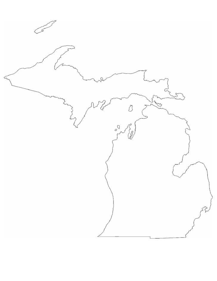 Michigan State Outline Map
