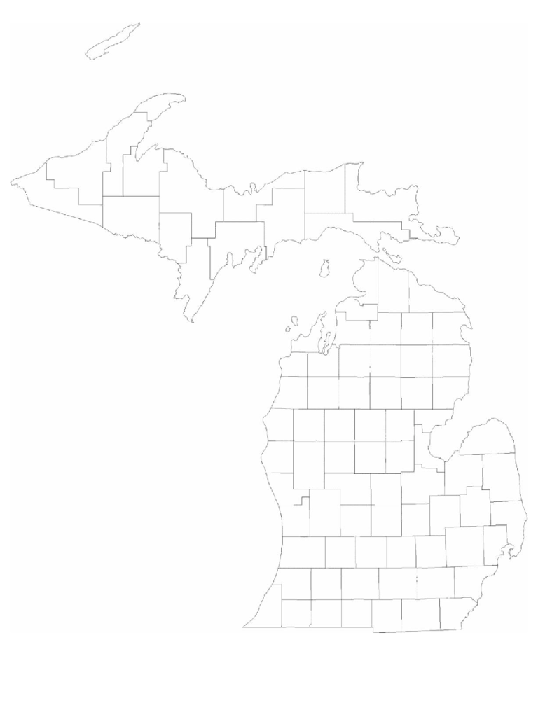 michigan map template