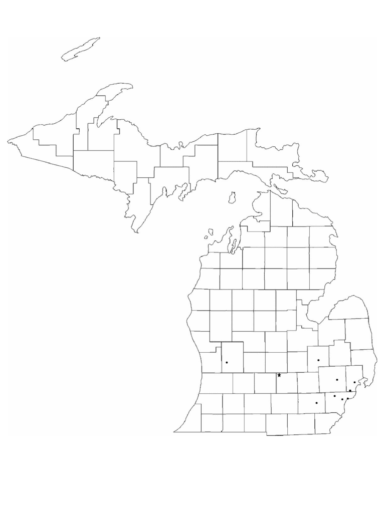 Michigan Map Template 8 Free Templates In Pdf Word Excel Download