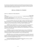 Military Power of Attorney Free Download