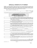 Special Military Power of Attorney Form  Free Download
