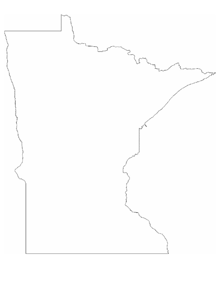 minnesota map template