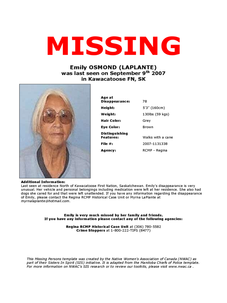 Missing Person Poster Template Free Download