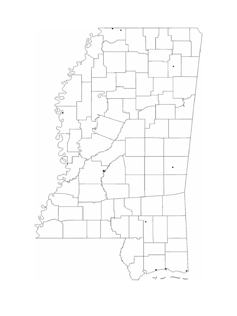 mississippi map template