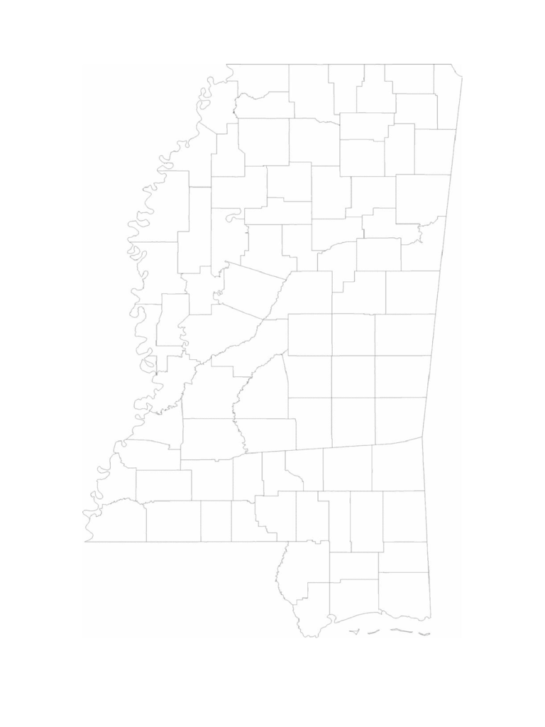 Blank Mississippi County Map