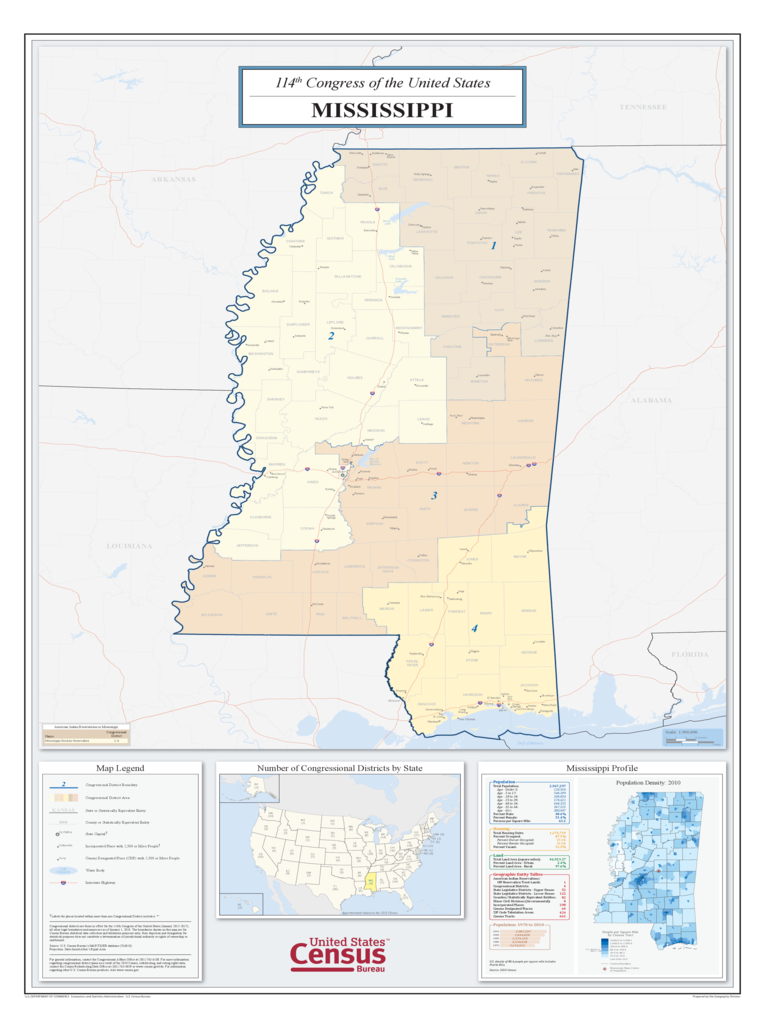 Mississippi Map Template Free Templates In PDF Word Excel - Ms district 1 us congressional map