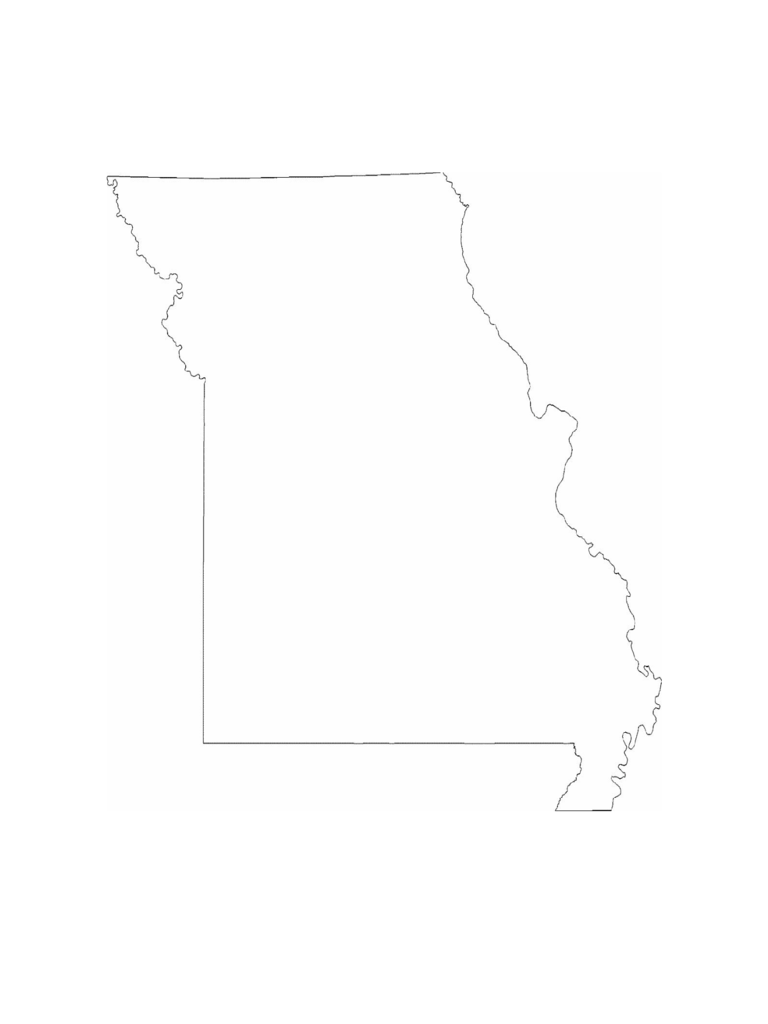 Missouri State Outline Map