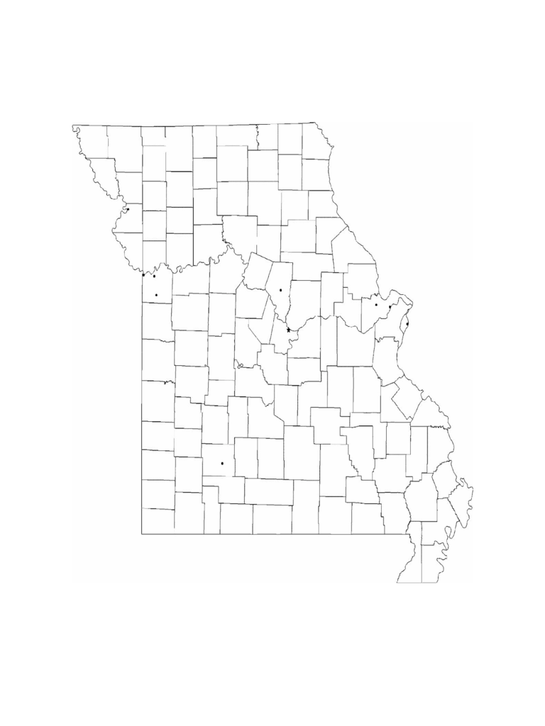 missouri map template