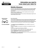 Claim for Mobility Allowance Form - Australia Free Download