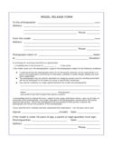 Model Release Form Template Free Download