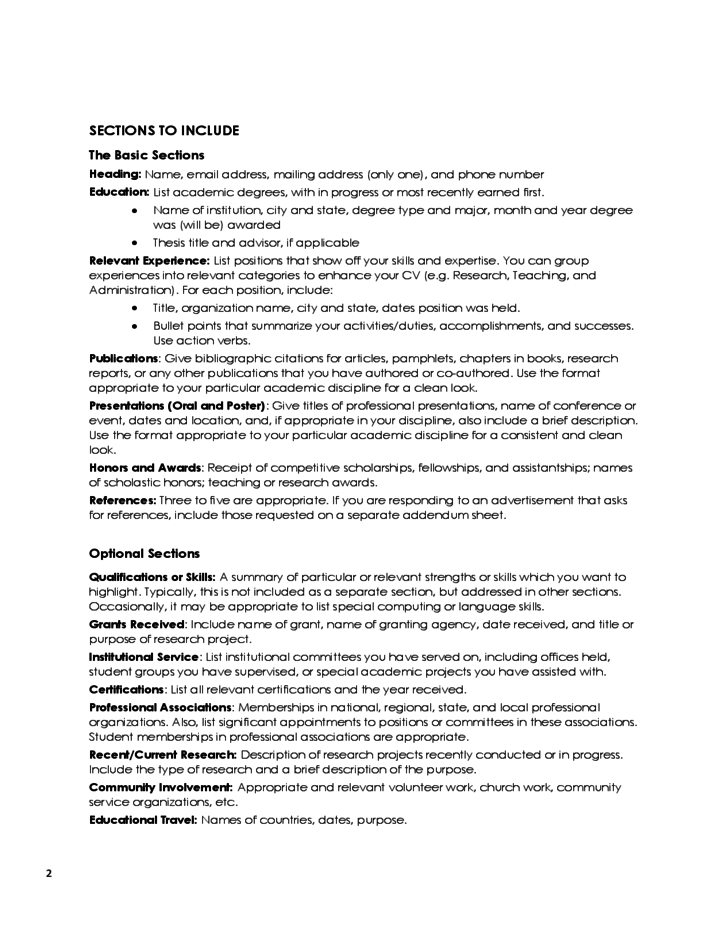 curriculum vitae tips and sles free
