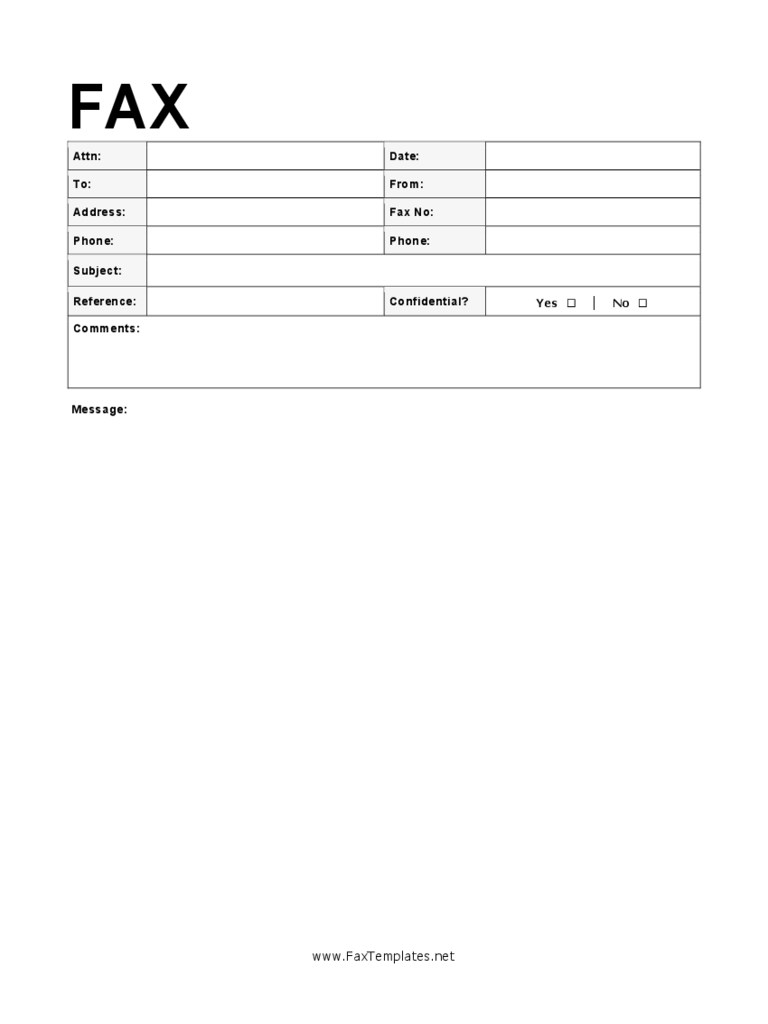 Sample Modern Fax Cover Sheet  Fax Form Template Free