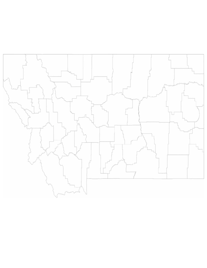 blank montana county map free download