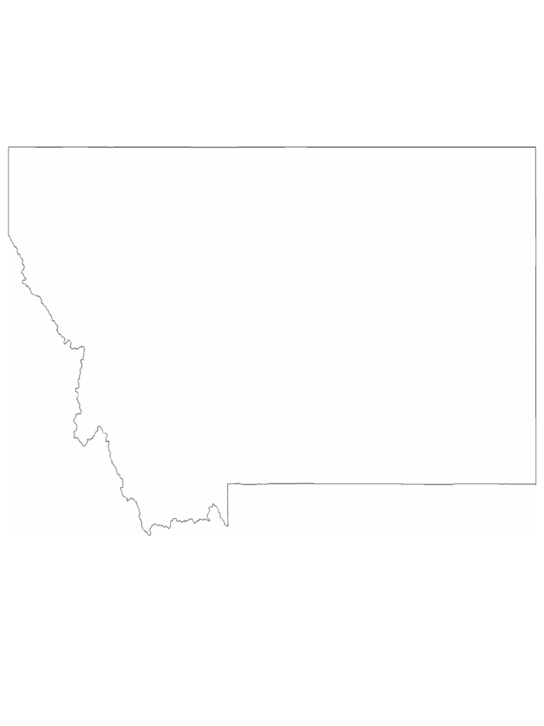 Montana State Outline Map