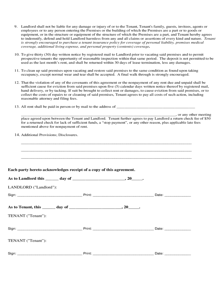 Blank Lease Agreement Download Free Premium Templates Forms Samples