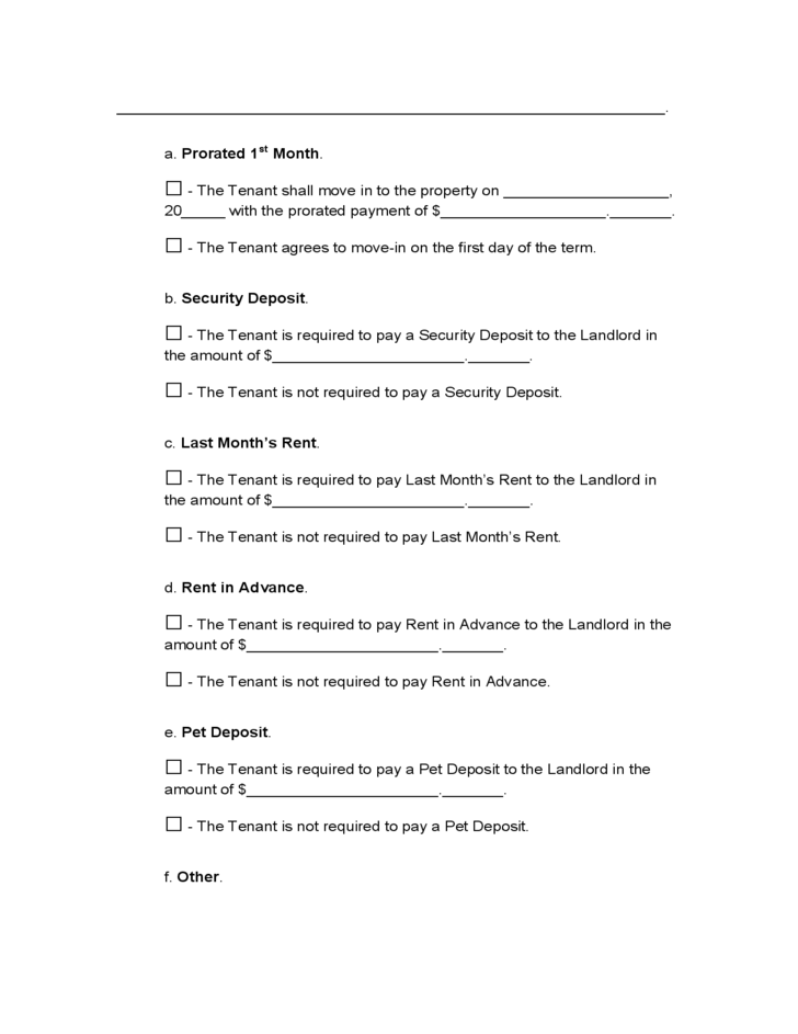Arkansas Month To Month Lease Agreement Free Download