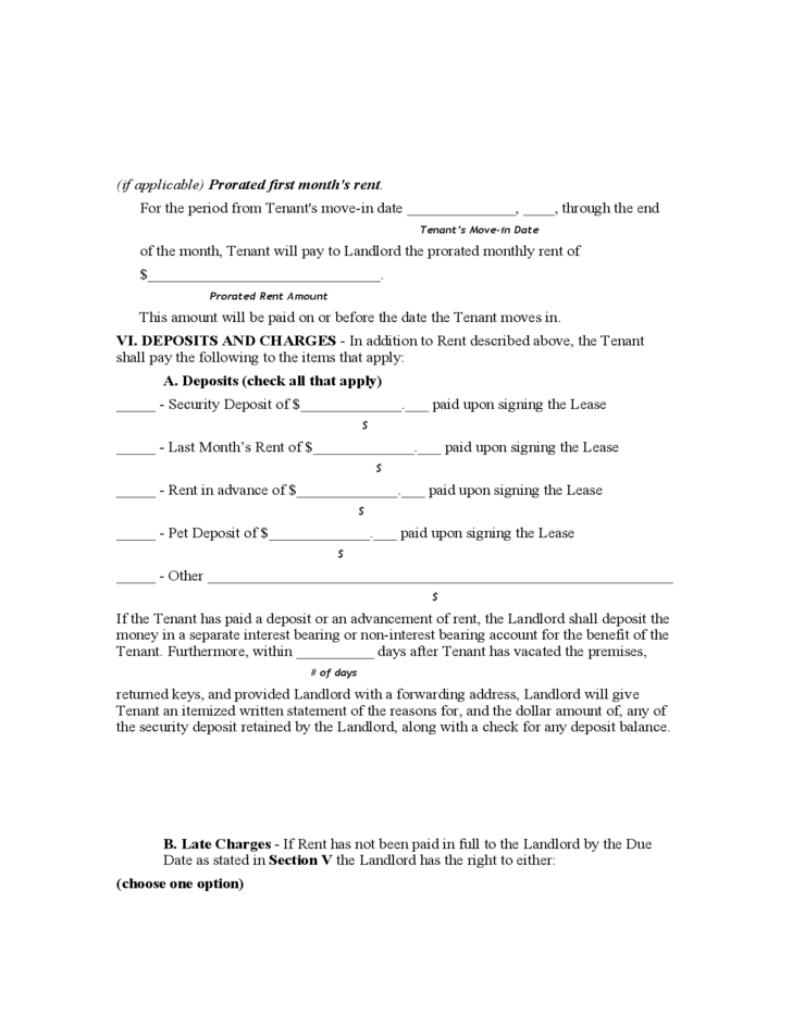 Alabama Monthly Lease Agreement
