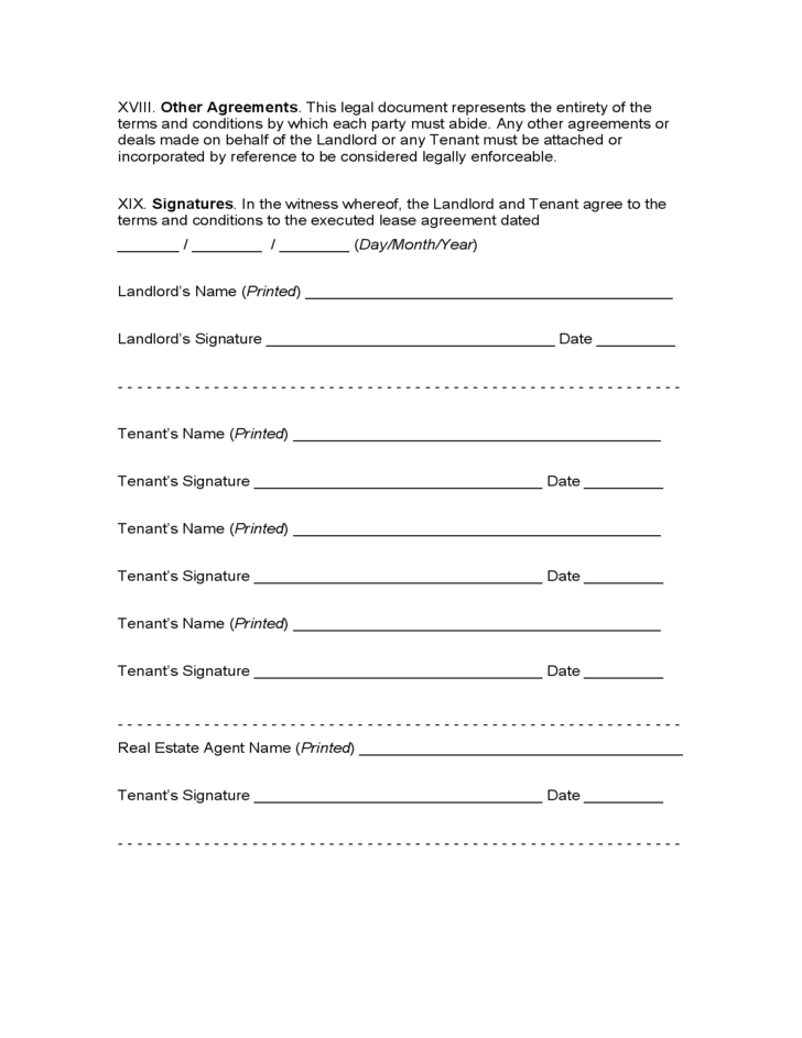 Pennsylvania Month To Month Lease Agreement Free Download