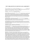 New York Month-to-Month Lease Agreement