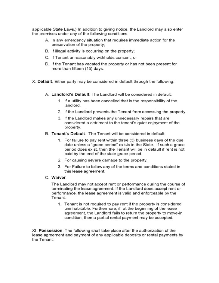 Montana Month To Month Lease Agreement Free Download