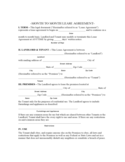 North Carolina Monthly Rental Agreement