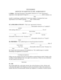 Tennessee Month to Month Lease Agreement Form