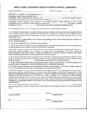 Idaho Monthly Rental Agreement