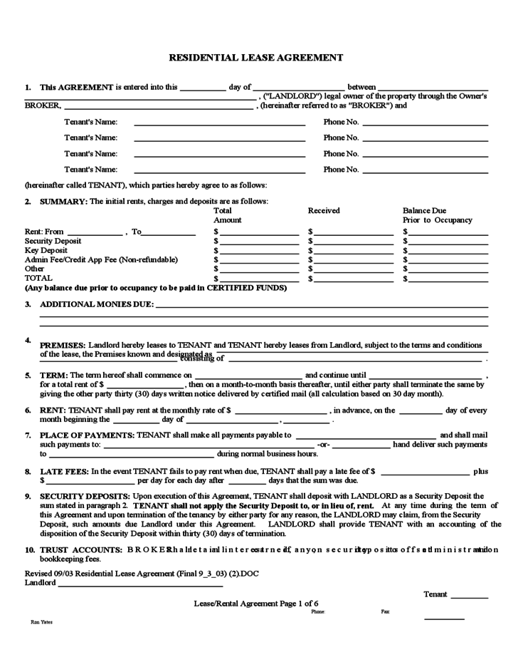 Nevada Month to Month Rental Agreement Form Free Download – Tenant Agreement Form Free