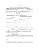 Wyoming Month to Month Lease Agreement
